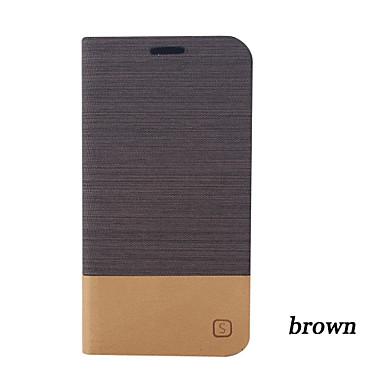 Για Samsung Galaxy Θήκη Θήκη καρτών / με βάση στήριξης / Ανοιγόμενη tok Πλήρης κάλυψη tok Μονόχρωμη Συνθετικό δέρμα Samsung A5