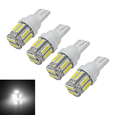 4adet 3 W 210 lm 10 LED Boncuklar SMD 7020 Serin Beyaz 12 V / 4 parça