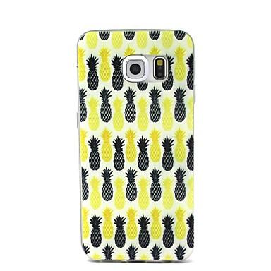 Para Samsung Galaxy Capinhas Ultra-Fina / Com Relevo Capinha Capa Traseira Capinha Fruta TPU Samsung S6 edge