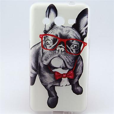 Voor Samsung Galaxy hoesje Hoesje cover Patroon Achterkantje hoesje Hond TPU voor Samsung Galaxy Core 2
