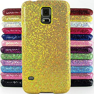hoesje Voor Samsung Galaxy Samsung Galaxy hoesje Reliëfopdruk Achterkant Glitterglans PC voor S5