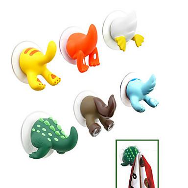 karikatür hayvan kuyruk tasarımı plastik kanca (rastgele renk)