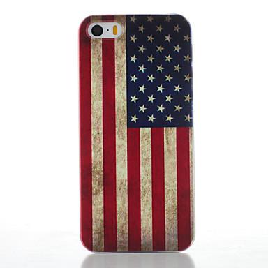 Voor iPhone 5 hoesje Mat / Patroon hoesje Achterkantje hoesje Vlag Hard PC iPhone SE/5s/5