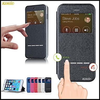 Voor iPhone 6 hoesje / iPhone 6 Plus hoesje met standaard / met venster / Flip hoesje Volledige behuizing hoesje Effen kleur Zacht TPU