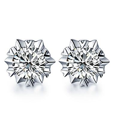 Dames Bloem Sterling zilver Zilver Oorknopjes - oorbellen Voor Bruiloft Feest Dagelijks