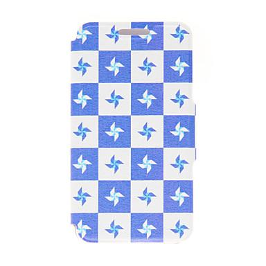 Para Samsung Galaxy Capinhas Porta-Cartão / Flip Capinha Corpo Inteiro Capinha Azulejos Couro PU Samsung S6