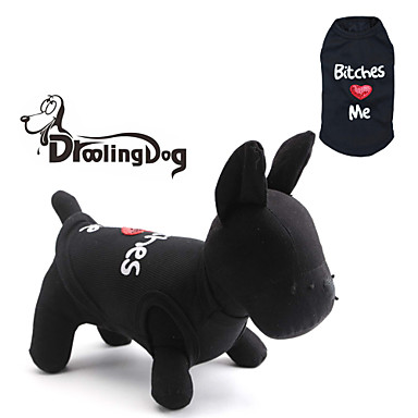 Gato Cachorro Camiseta Roupas para Cães Carta e Número Preto Ocasiões Especiais Para animais de estimação