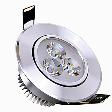 cheap Indoor Lights-6000-6500lm 2G11 LED Downlights Rotatable 3 LED Beads High Power LED Dimmable Warm White / Cold White 110-130V