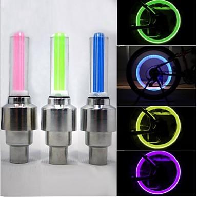 Luci bici / Luci per tappo della valvola / luci della rotella LED Luci bici - Ciclismo Impermeabile 50 lm Batteria Ciclismo / ABS / IPX-4