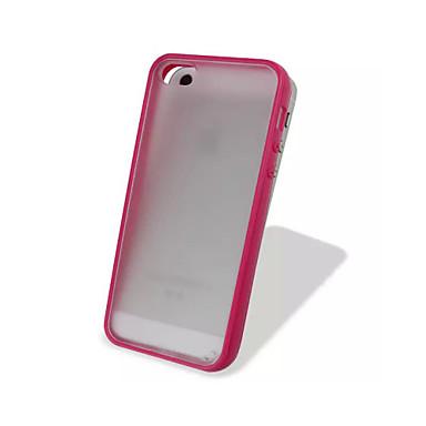 TPU kleurrijke frame en pc matten transparante slanke rugdekking voor iPhone 5c (verschillende kleuren)