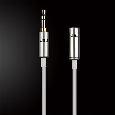 jsj® 3,5 χιλιοστά στερεοφωνικό αρσενικό στο θηλυκό καλώδιο ήχου για κινητό τηλέφωνο / όχημα / οικογένεια (Ποικιλία χρωμάτων od3.0mm 1m