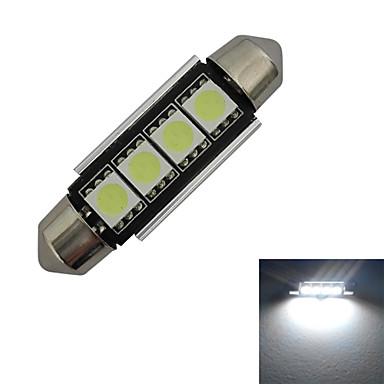80-90 lm Festoon Διακοσμητικό Φως 4 leds SMD 5050 Ψυχρό Λευκό DC 12V