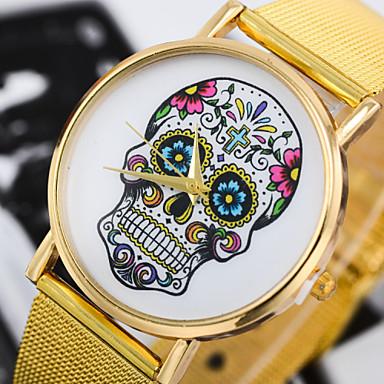Mulheres Relógio de Moda Quartzo Lega Banda Flor Dourada