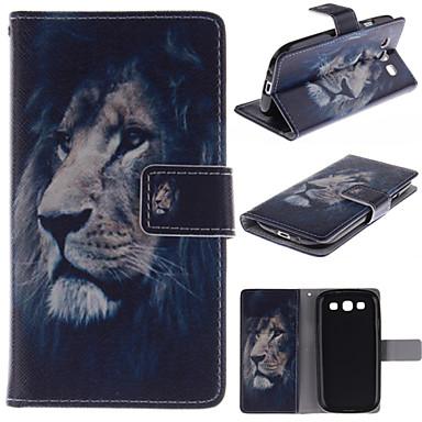 Voor Samsung Galaxy hoesje Portemonnee / Kaarthouder / met standaard / Flip hoesje Volledige behuizing hoesje Dier PU-leer Samsung S3