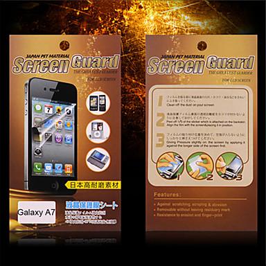 Protetor de Tela para Samsung Galaxy A7 PET Protetor de Tela Frontal Alta Definição (HD)