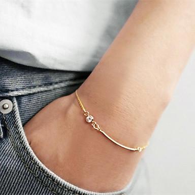 Dames Armbanden met ketting en sluiting Eenvoudige Stijl Europees Zirkonia Kubieke Zirkonia Gouden Sieraden VoorFeest Dagelijks Causaal