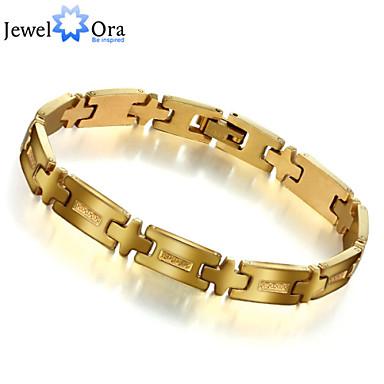 Heren Armbanden met ketting en sluiting Armband Uniek ontwerp Modieus Roestvast staal Sieraden Goud Sieraden Voor Kerstcadeaus 1 stuks