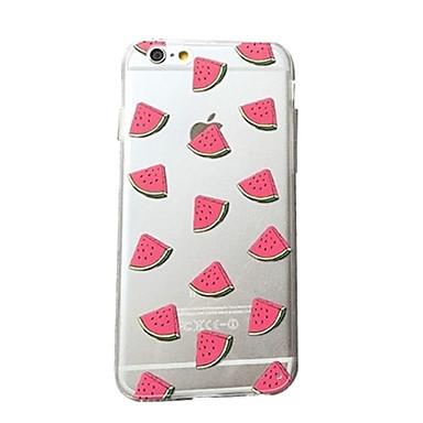 iphone 7 mais fresco padrão de melancia acrílico e TPU combinação caixa do telefone magro pequeno para iphone 6s 6 mais