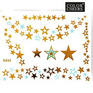 Tatoeagestickers - Patroon - Sieraden Series - voor Dames/Girl/Volwassene/Tiener - Goud - Papier - #(1) - stuks #(15x11.5)