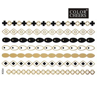 Tatoeagestickers - Patroon - Sieraden Series - voor Dames/Girl/Volwassene/Tiener - Goud - Papier - #(1) - stuks #(15x9)