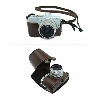 Χαμηλού Κόστους Θήκες, τσάντες και λουράκια-dengpin® προστατευτική αποσπώμενη δερμάτινη θήκη φωτογραφικής μηχανής τσάντα κάλυμμα με ιμάντα ώμου για Olympus E-pL7 (διάφορα χρώματα)