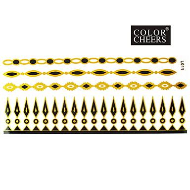 Tatoeagestickers - Patroon - Sieraden Series - voor Dames/Girl/Volwassene/Tiener - Goud - Papier - #(1) - stuks #(23x12)