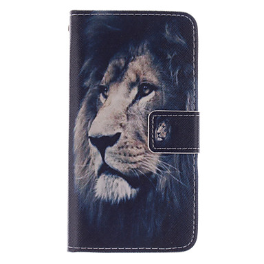 Case For Samsung Galaxy Samsung Galaxy Case Card Holder Wallet with Stand Flip Full Body Cases Animal PU Leather for S5