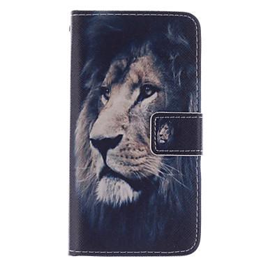 Capinha Para Samsung Galaxy Samsung Galaxy Capinhas Porta-Cartão Carteira Com Suporte Flip Capa Proteção Completa Animal PU Leather para