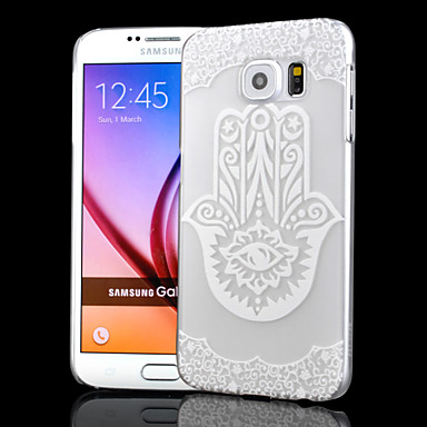 Para Samsung Galaxy Capinhas Áspero / Transparente / Com Relevo Capinha Capa Traseira Capinha Desenho PC Samsung S6