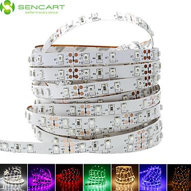 SENCART 1m Bandes Lumineuses LED Flexibles 60 LED 3528 SMD Blanc Chaud / Blanc / Rouge Découpable / Intensité Réglable / Connectible 12 V / Pour Véhicules / Auto-Adhésives
