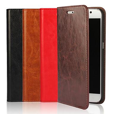 Para Samsung Galaxy Capinhas Case Tampa Carteira Porta-Cartão Com Suporte Flip Corpo Inteiro Capinha Cor Única Macia Couro Legitimo para