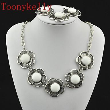 Γυναικεία Κοσμήματα Σετ Κολιέ / Βραχιόλι - Λευκό Για Γάμου / Πάρτι / Καθημερινά