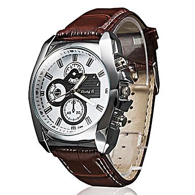 Men's Quartz Wrist Watch Casual Watch PU Band Casual Black Brown