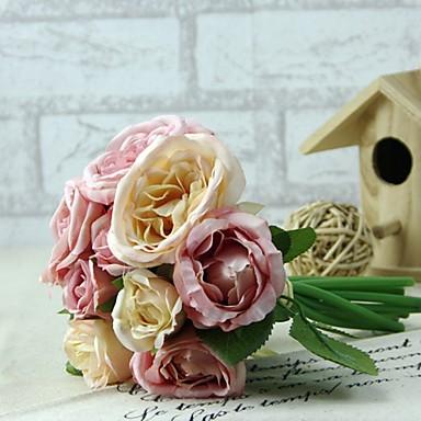 1 Tak Zijde / Kunststof Pioenen Bloemen voor op tafel Kunstbloemen (5.9