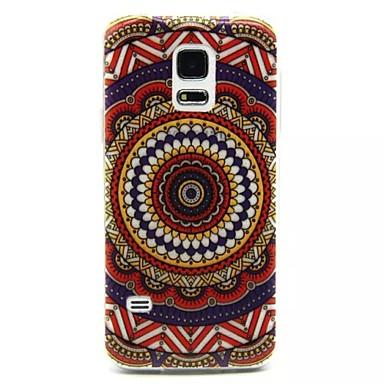 Για Samsung Galaxy Θήκη Εξαιρετικά λεπτή / Ανάγλυφη tok Πίσω Κάλυμμα tok Λουλούδι TPU Samsung S5 Mini