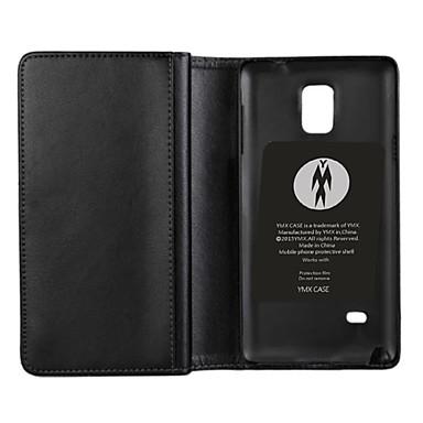 Para Samsung Galaxy Note Porta-Cartão / Carteira / Com Suporte / Flip Capinha Corpo Inteiro Capinha Cor Única Couro PU Samsung Note 4