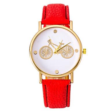 Dames Modieus horloge Kwarts Vrijetijdshorloge PU Band Zwart Wit Blauw Rood Bruin Roze Paars Geel