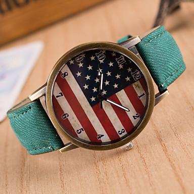 Жен. Наручные часы Кварцевый Повседневные часы PU Группа Аналоговый Кулоны Мода Черный - Зеленый Синий Розовый / Нержавеющая сталь