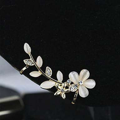Γυναικεία Χειροπέδες Ear Πολυτέλεια Πετράδια σχετικά με τον μήνα γέννησης Στρας Οπάλιο Προσομειωμένο διαμάντι Κράμα Λουλούδι Κοσμήματα