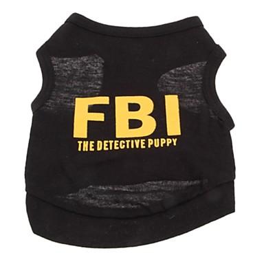 Gato Cachorro Camiseta Roupas para Cães Fantasias Casamento Carta e Número Preto Ocasiões Especiais Para animais de estimação