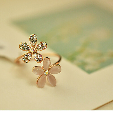 Women's Statement Rings Adjustable Cubic Zirconia Imitation Diamond Opal Alloy Jewelry Party