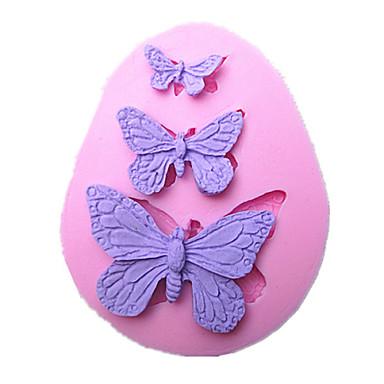 Ferramentas borboleta molde do bolo artesanal de silicone cozimento decorações para bolos fondant chocolates molde sm-042