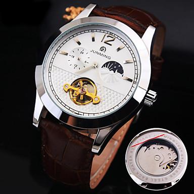 Ανδρικά μηχανικό ρολόι Διάφανο Ρολόι Αυτόματο κούρδισμα Εσωτερικού Μηχανισμού Ανθεκτικό στο Νερό Hot Πώληση Γνήσιο δέρμα Μπάντα Φυλαχτό