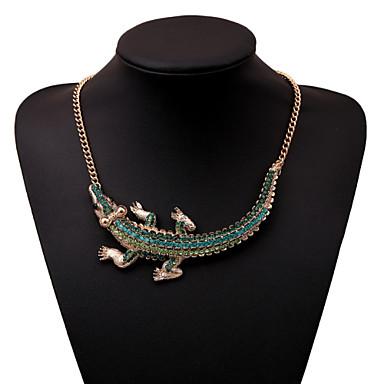 Dames Gepersonaliseerde Luxe Modieus Opvallende sieraden Verklaring Kettingen Synthetische Edelstenen Kubieke Zirkonia Gesimuleerde