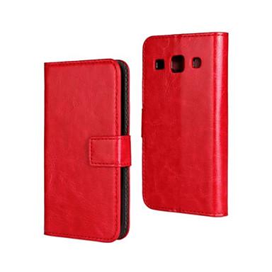 tok Για Samsung Galaxy Samsung Galaxy Θήκη με βάση στήριξης Ανοιγόμενη Πλήρης Θήκη Συμπαγές Χρώμα PU δέρμα για Core Plus