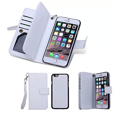 Недорогие Кейсы для iPhone-Кейс для Назначение Apple iPhone 8 Pluss / iPhone 8 / iPhone 6s Plus Кошелек / Бумажник для карт / Флип Чехол Однотонный Твердый Настоящая кожа