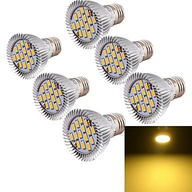 YouOKLight 700 lm E26/E27 Lâmpadas de Foco de LED MR16 15 leds SMD 5630 Decorativa Branco Quente AC 85-265V