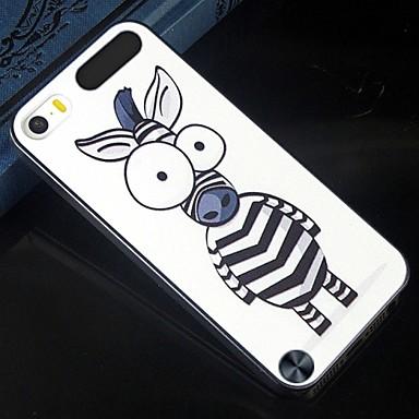 o tamanho do olho dos desenhos animados padrão de zebra padrão de design de volta cobrir caso difícil de proteção para o iPod touch 5