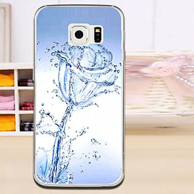 Voor Samsung Galaxy hoesje Hoesje cover Reliëfopdruk Achterkantje hoesje Bloem TPU voor Samsung S6 edge