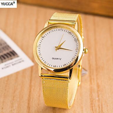 Heren Dress horloge Zwitsers Designer Kwarts Legering Band Goud